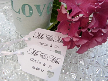 Personalised Wedding Favour Tags